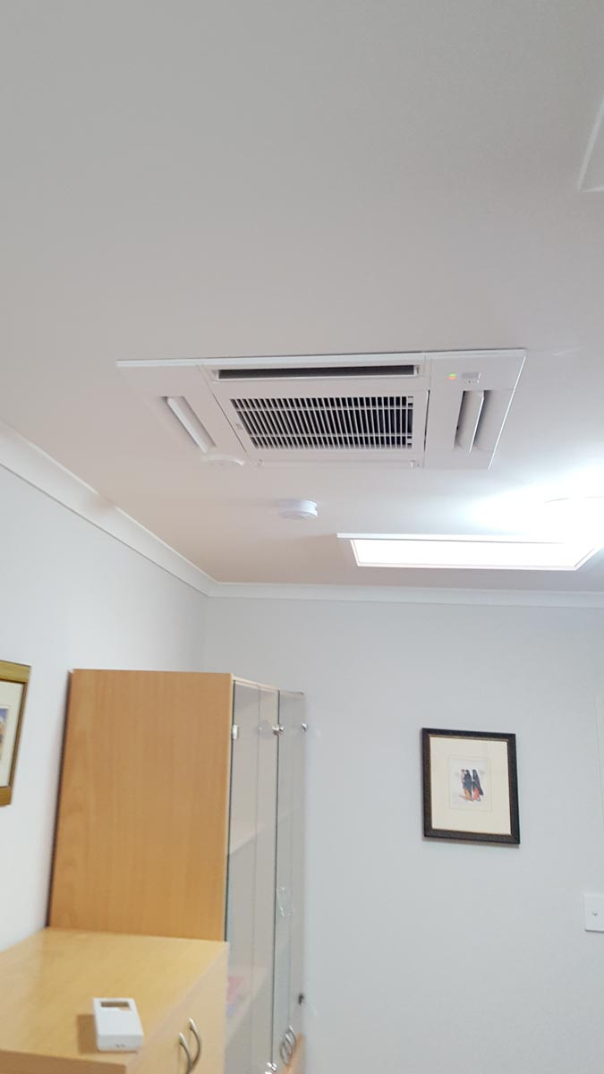 A Duo Of Heat Pump Cassettes Installed Into A Tauranga Home