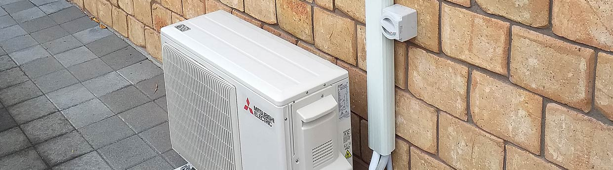 Mitsubishi heat pump for Papamoa rental property
