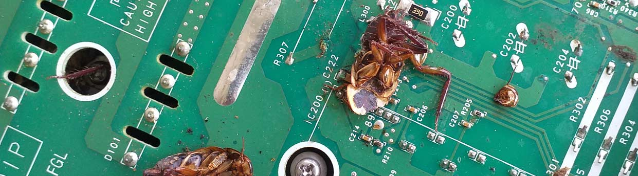 Cockroach infestation fries Fujitsu heat pump circuit board