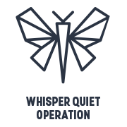 icon whisper quiet operation